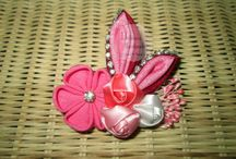 Kanzashi Flower / Awesome Kanzashi Flower for brooch, hijab accessories.   From Pekanbaru - Indonesia