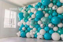 стена из шаров