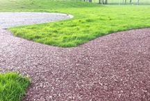 Rubber Mulch Pathways