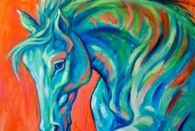Pinturas animales impresionista y abstractoanimales