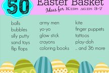Easter baskets candy/food free