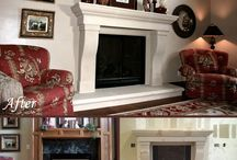 Before & After | Transformations! / See how spaces are transformed with their new DeVinci Cast Stone mantel.