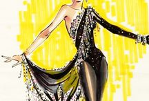 Bob Mackie Showgirl Sketch Illustration