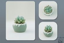 succulent polymer clay