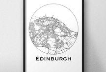 Affiches de ville Écosse Scotland