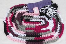 Rag Rugs by BBEaccessories / handmade crocheted T-shirt rag rugs made in the usa