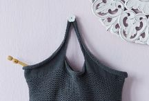 Tote bags, knitted/crochet