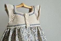 vestidos a crochet y tela