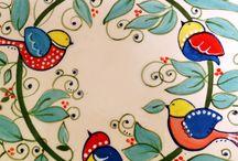 pintura cerámica sobre cubierta