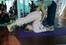 #students practising yoga / images from Goa (Arambol)