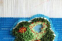 Weaving by cornelia sheep / Fiber art Handmade in spain