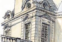 архитектура и наброски