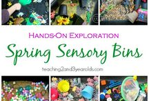 Spring activities for kids / Spring ideas for crafts, learning through play, sensory play and children's books