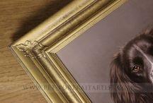 Pet Portraits Oil Paintings Framed