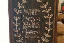 Chalkboard Bible Verses