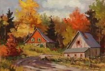 Claude Langevin, Quebec Artist / Artiste peintre québecois Quebecois painter