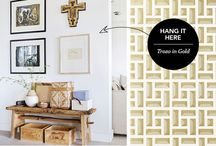 "Hang it Here / Our ""Hang it Here"" series from seeks to put a little more pattern into already lovely rooms (because, yeah, we love a good pattern!) / by Hygge & West"