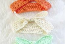 вязание крючком ободочки, шапочки