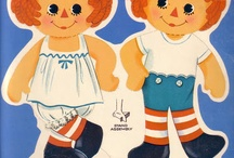 Raggedy Ann Andy Holly Hobby / Rag Doll Paper Dolls Patterns / by Linda McRea