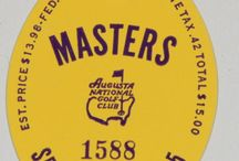 Augusta Masters Tournament Badge Collection / These are badges from various years of the Masters, including years with Gary Player, Arnold Palmer, and Jack Nicklaus winning the tournament. For more ticket stubs and event entry badges, visit ticketstubcollection.com #masters #golf #augusta