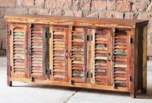 Mary Rose Range / Modish Living's Mary Rose colourful reclaimed wood furniture.