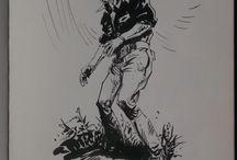 Les anges d'acier by Victor De La Fuente - Sketch