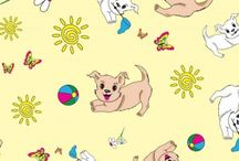 """Dog Bandanas Fabric / Material to cut for your own Bandana, they vary into 5 different yardage; 1,2,3,4 and 5. 44""""/45"""" Width Poly/cotton blend, not too soft, not too stiff, for a perfect Bandana"""