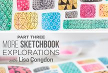 ART JOURNALING: Doodles, mandalas and zentangles... / Beautiful patterns and clever marks.