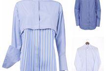 Gestreift von Kopf bis Fuß / Blusen, Hemden, Schuhe.  @eveslookbook   @mytheresa.com   @brownsfashion  springstyle   lifestyle l blue and white   Mode   Frauen  Fühling  Blau und Weiß