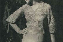 1930's knitting and crochet / Ideas for miniaturising