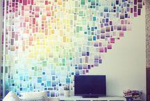 Paredes decoradas - Decorated walls / Mil y una ideas para decorar paredes