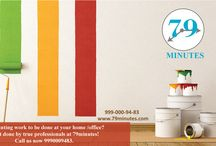 Painting and Painters / Colorful walls beautify the ambiance of entire room in home and office. 79minutes have a skillful team of painters doing it in 100% professional way.