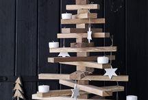 Arboles de navidad con personalidad. / ¿Qué os parecen? Os atrevéis a cambiar el árbol de Navidad tradicional por estos otros mucho más novedosos, pero igualmente calidos y efectivos.