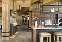 Baby I'm Home / An expansive kitchen with an earthy vibe. Custom steel pieces and exotic wood species make this a one of a kind home.