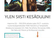 Ylen siisti kesäduuni #ylensiisti  / Kesäkuussa 2014 joukko 16-17 -vuotiaita nuoria pääsee tutustumaan Yleen. Lisätietoja: bit.ly/siistitfaktat