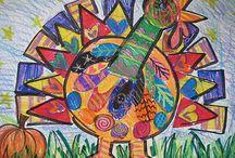 Kids thanksgiving art