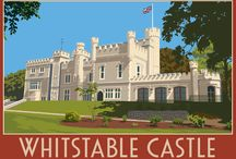 Whitstable, Canterbury & Herne Bay / A collection of recently drawn Railway style posters. Inspired by Art Deco & Art Nouveau Designs & artists such as Tom Purvis & Frank Newbold.