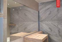 Мрамор Палисандро Платинум / зеркальные слэбы в наличии на складе Cosmostone, визуализации в интерьере