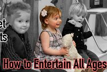 Don't Forget Guests with Kids: How to Entertain All Ages / It's easy to keep the adults entertained, but how much thought have you put into entertaining those younger guests? Regardless of how many kids you'll have at your wedding, don't forget about those younger attendees that need to be entertained too. http://www.kimberleyandkev.com/dont-forget-guests-kids-entertain-ages/