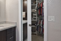 Wardrobe / Wooden, room size and detailed for every type of clothing.