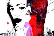 27 Dresses: 1 Zeichnung – 27 Illustrationen. / 27 Dresses: 1 Zeichnung – 27 Illustrationen. Eine meiner Zeichnungen spielt die Hauptrolle: Das Porträt einer Dame, die ich Amélie getauft habe. Die Zeichnung bleibt unverändert, Hintergrund, Technik und alles andere dürfen/müssen sich ändern. So entsteht eine Reihe von 27 Illustrationen – Amélie bekommt ihre »27 Dresses«.