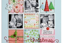 Christmas Scrapbook Layouts / We all take so many photos at the holidays! Here are some ideas to get those photos scrapped!