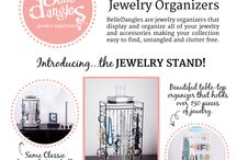 Stand Pretty / The new BelleDangles Jewelry Stand has arrived! The BelleDangles Jewelry Stand beautifully holds over 150 pieces of jewelry, including necklaces, bracelets, rings and both stud and dangle earrings.