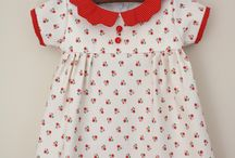 Sewing / Dress- print with red collar