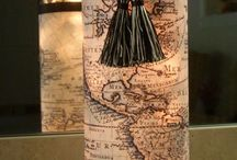 wine bottle crafts / by Heather Figlan