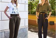 modelos  de calça  larguinha - tipo anos 80.