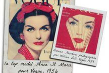 Variations en rouge / Quelques belles photos de mode des années 30 à 60, un seul thème: la couleur rouge!