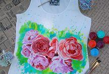 Textiel paint ideas
