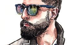 Chicos Con Barba Dibujos