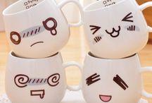 Mug and Tea Cup kawaii
